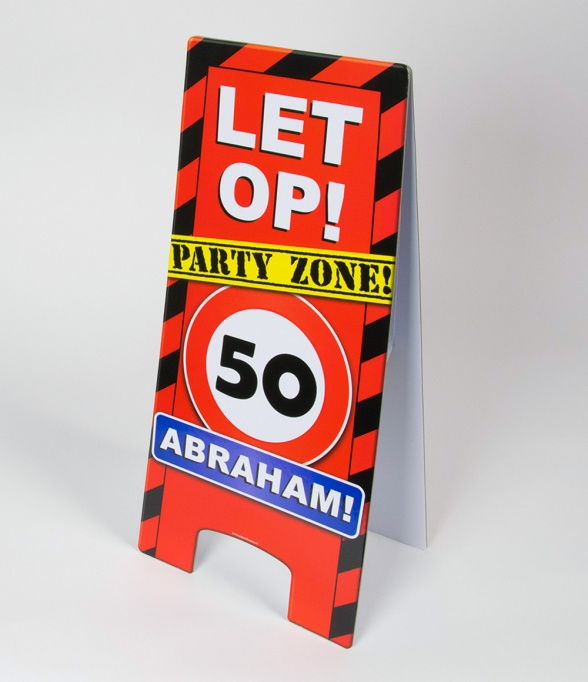 50 jaar abraham warning sign