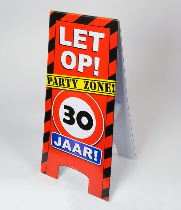 30 jaar warning sign