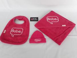 Geboortepakket 'Babe' (Fuchsia roze)