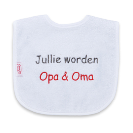"Slabje ""Jullie worden Opa & Oma"""