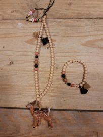 Ketting Wooden chique