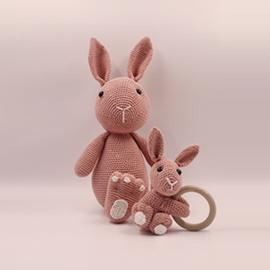 Knuffel konijn 'Roze'