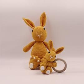 Knuffel konijn 'oker geel'