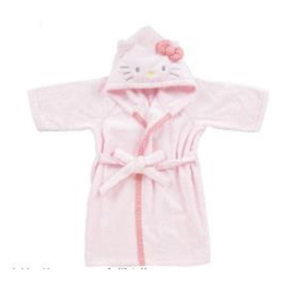 Bathrobe Hello Kitty light pink
