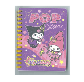 Spiral note book of Kuromi and My Melody