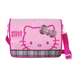 "Laptoptas / schoudertas ""Check"" roze"