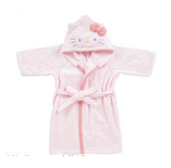 Badjasje van Hello Kitty licht roze