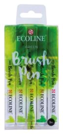 Ecoline Brushpen Set van 5 kleur Groen