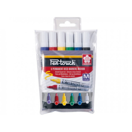 Sakura Pen-Touch Permanent Marker - Medium - Set van 6