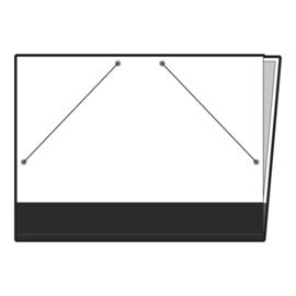 Tekenmap Beschrijfbaar  Wit 50x 70CM