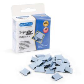 Rapesco Supaclip 40 Papierklem Navulling, Blauwe , doos à 100 stuks