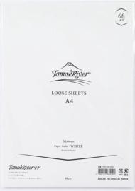 Tomoe River Paper Formaat A4 / 50 Vellen = 100 Pagina's, 68g/m2 Blanco Wit Papier