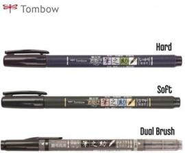 3 stuks Kwaliteits Handlettering/Kalligrafie Brushes van Tombow + GRATISKanji Sjabloon