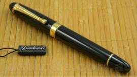 Jinhao X450Z Flexy Zebra G-Nib Calligraphy Vulpen, extra meegeleverd  Zebra G-Nib Titanium