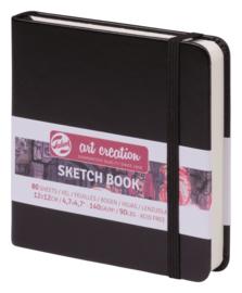 Talens Art Creation Schetsboek Zwart  12 x 12