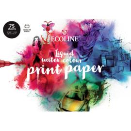 Talens Ecoline Print Papier - 150 grams - A4 - 75 losse vellen
