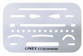 Linex Gom Sjabloon es-30