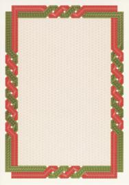 Diploma / Certificaat Papier Twist Rood - Groen ,   25 Vel Formaat A4  = 210 x 297 mm 115g/m²