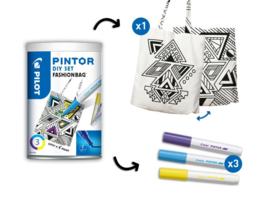 Pilot Pintor - Set DIY Bag - Inclusief 3 Markers - Fine Tip