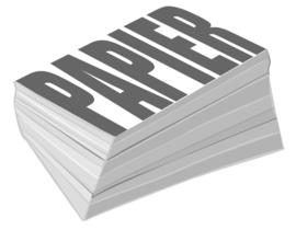 A5 Wit Blanco 120 g/m² Papier 100 Vel = 200 Pagina's
