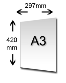 Luxe Insteekmap inclusief Blok A3 Blanco Papier