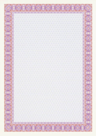 Diploma / Certificaat Papier  Spiraal Rood,   25 Vel Formaat A4  = 210 x 297 mm 115g/m²