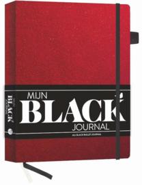 Mijn Black Dotted Journal Red Velvet + 1 Sakura Gelly Roll Gelpen Wit