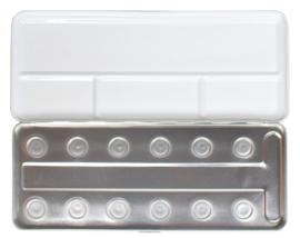 Metal  Box  voor 12 - Pearlcolor Napjes (Leeg)