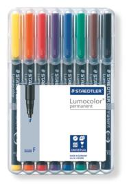 Staedtler Lumocolor Fine  Permanent - Box 8 st