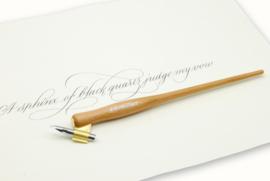 Handwritmic Oblique  Cherry Wood Penhouder voor de Nikko G Nib