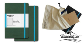 Endless Recorder Bullet Journal / Notebook met Tomoe River Paper,  Kleur omslag: Groen