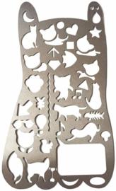 Multifunctionele Geometrische Katten Figuren BuJo Stencil