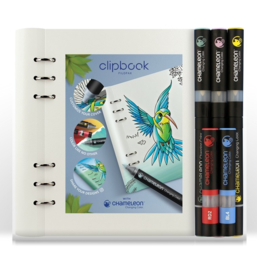 Filofax Clipbook A5 Notebook &  Set Chameleon Pennen