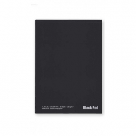 Black Pad Zwart Papier A4, 120g/m2