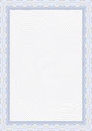 Diploma / Certificaat Papier Blauwe Slinger ,   25 Vel Formaat A4  = 210 x 297 mm 115g/m²