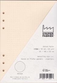 Brepols Agendavulling 2020 Brefax # 7, 7 Dagen / 2 Pagina's + Extra 50 vel = 100 pagina's 120 g/m², Dotted A5 Formaat Crèmekleurig Notitiepapier