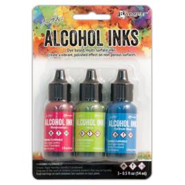 Tim Holtz Alcohol 14ml  ink x 3 Dockside Picnic