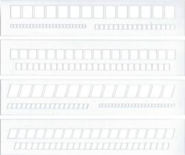 Set van 4 Letter Guides  Sjablonen gemaakt van Transparant Kunststof