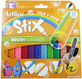 Artline Stix Brushpen 12 Pack