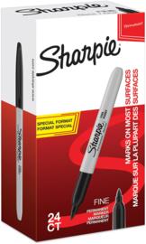 Sharpie Permanente Markers Fijn, Value Pack van 24 stuks (20 + 4 gratis)
