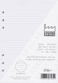 Aanvulling Dotted Lijn 120g/m² Wit A5 Notitiepapier voor o.a. Succes, Filofax of Kalpa Organizers