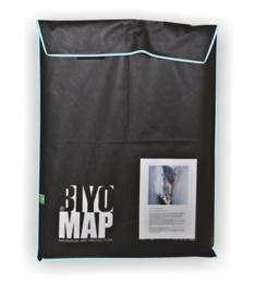 BiyoMap (Licht Blauwe Bies) 40 x 50cm