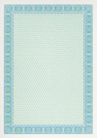 Diploma / Certificaat Papier  Spiraal Blauw,   25 Vel Formaat A4  = 210 x 297 mm 115g/m²