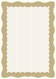 Certificaat / Diploma Papier  Bronze Wave,  30 Vel Formaat  A4 =  210 x 297 mm 90g/m² met Zegels