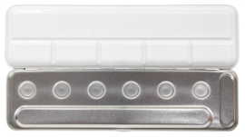 Metal  Box  voor 6 - Pearlcolor Napjes (Leeg)