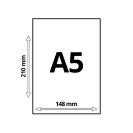 A5 Blanco 120 gr Wit  Papier, 100 vel = 200 Pagina's