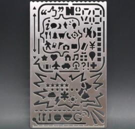 Bullet Journal Stencil van Roest Vrij Staal