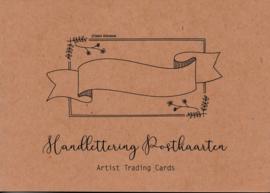 Handlettering Oefenblok - Postkaarten - A5 Formaat + 3 GRATIS Gelpennen