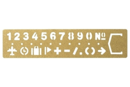 BRASS Template Bookmark - Numbers