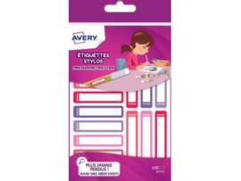30 Mini Etiketten Roze/Paars